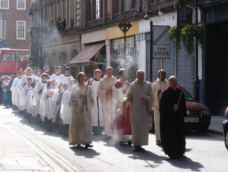 Palm Sunday Procession at