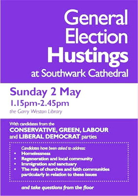 General Election Hustings at Southwark Cathedral