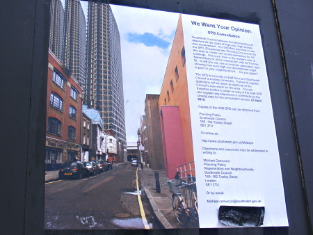Bermondsey Street High Rise Buildings Public Meeting at The Tanneries