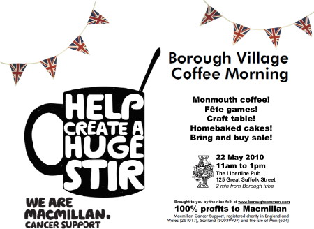 The Borough Village Coffee Morning at The Libertine