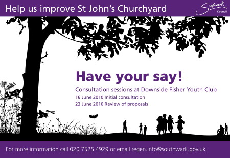 St John's Churchyard Initial Consultation at Downside Fisher Youth Club