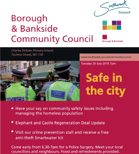 Borough & Bankside Community Council at Charles Dickens Primary School