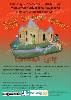 Play in Your Manor Christmas Party at