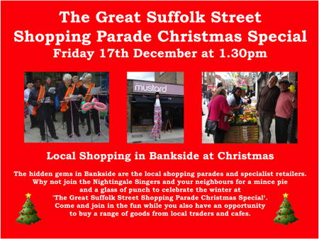 The Great Suffolk Street Shopping Parade Christmas Special at Great Suffolk Street Shopping Parade