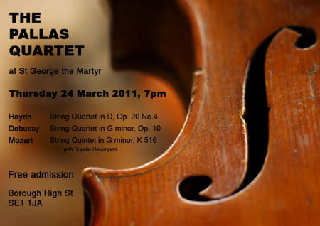 The Pallas Quartet at St George the Martyr