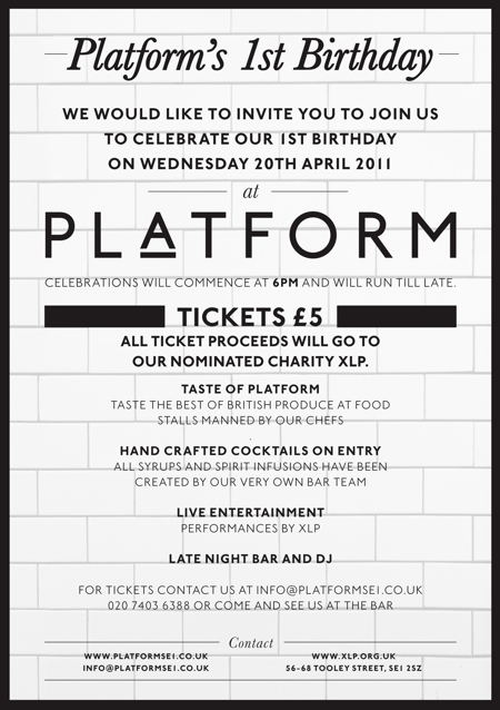 Platform's 1st Birthday at Platform Restaurant & Bar