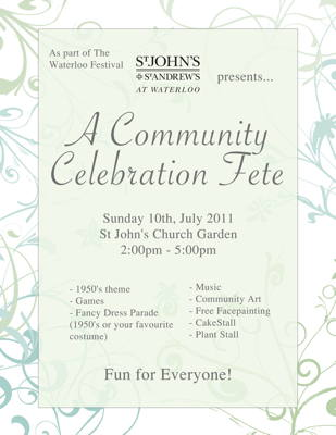 A Community Celebration Fete at St John's Waterloo