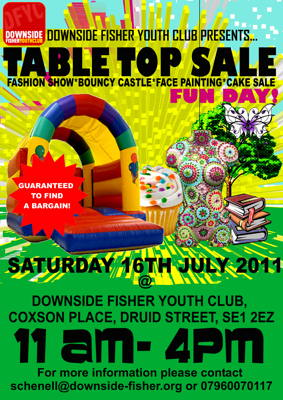 Table Top Sale Fun Day at