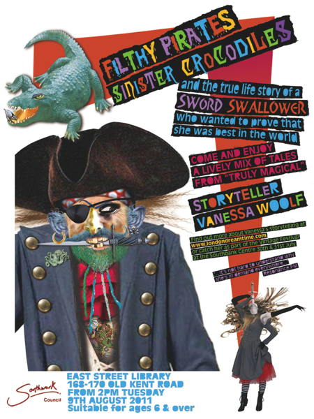 Filthy Pirates, Sinister Crocodiles, Sword Swallowers at East Street Library