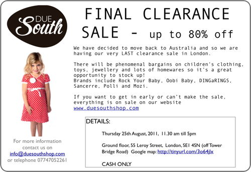 Due South Final Clearance Sale at