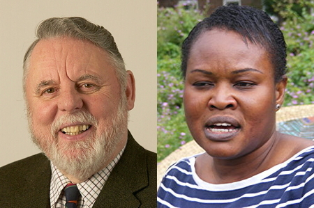 Terry Waite and Grace Idowu