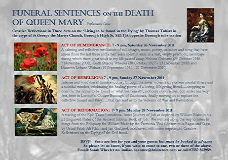 Funeral Sentences on the Death of Queen Mary at