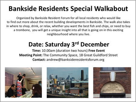 Bankside Residents' Special Walkabout at