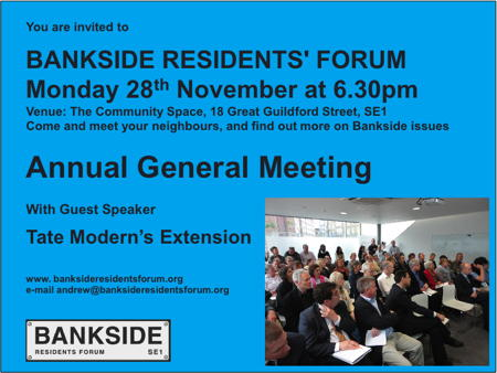 Bankside Residents' Forum AGM at Bankside Community Space