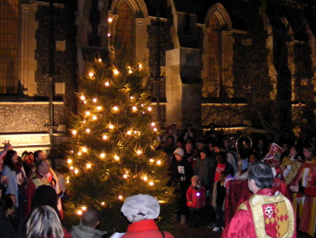 Christingle Service at Southwark Cathedral
