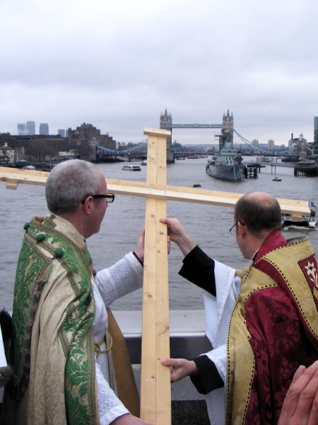 The Blessing of the River Thames at London Bridge