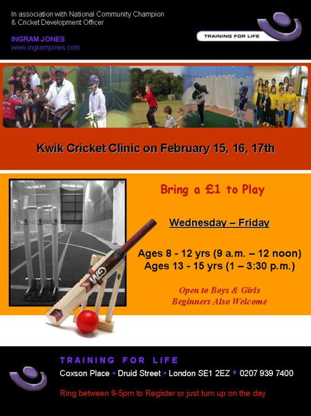 Kwik Cricket Clinic at