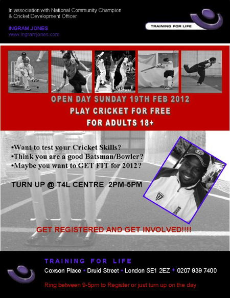 Cricket Open Day at