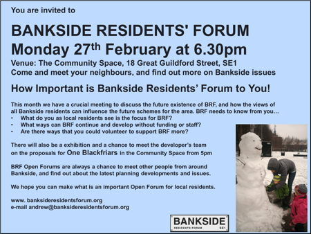 Bankside Residents' Forum at Bankside Community Space