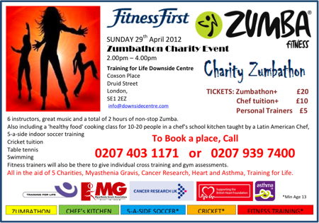 Charity Zumbathon at Downside Centre