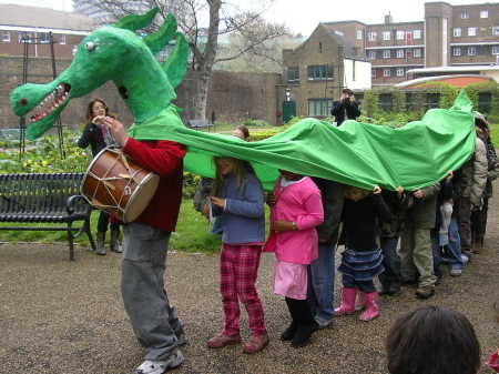 The Great Southwark Dragon Quest at Red Cross Garden