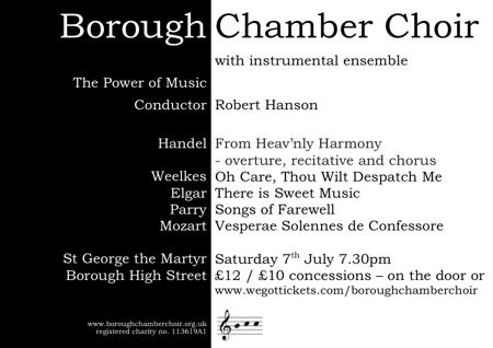 Borough Chamber Choir at St George the Martyr
