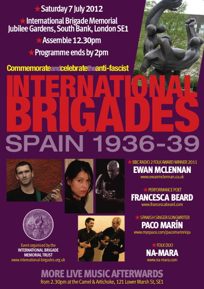 International Brigades Commemoration at