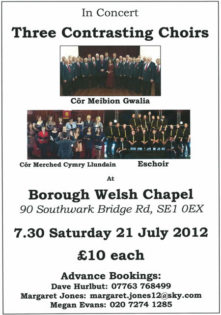 Three Contrasting Choirs at