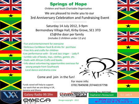 Springs of Hope Celebration and Fundraising Event at