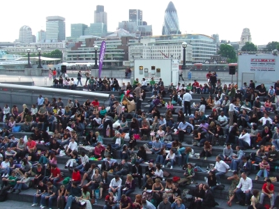 Tinker Tailor Soldier Spy at The Scoop at More London