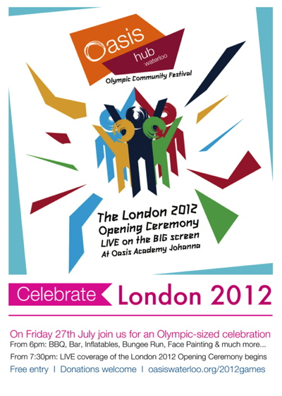 London 2012 Opening Ceremony Live on the Big Screen at Oasis Academy Johanna