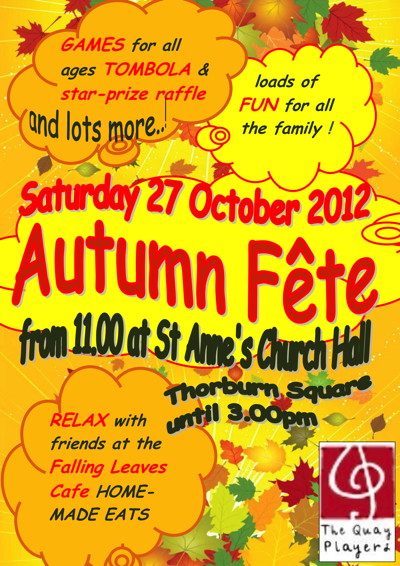 Quay Players Autumn Fete at St Anne's Church Hall