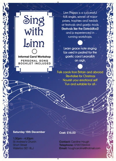Sing with Linn at St Andrew's Short Street