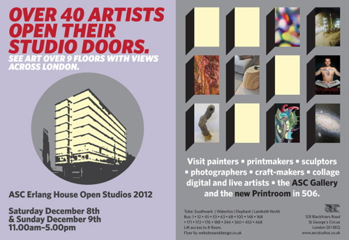ASC Erlang House Open Studios at ASC Gallery