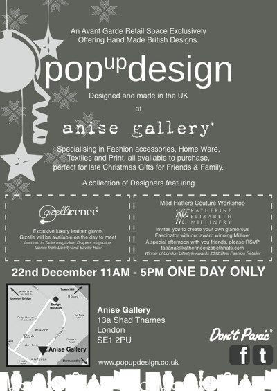 Pop Up Design at Anise Gallery