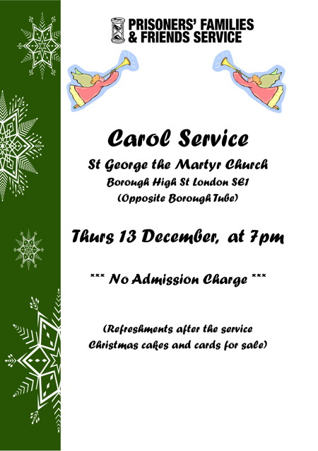 Prisoners' Families and Friends Service Carol Service at