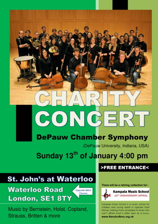 DePauw Chamber Symphony Charity Concert at