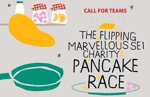 The Flipping Marvellous SE1 Charity Pancake Race at The Scoop at More London