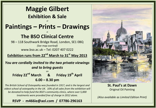 Maggie Gilbert Exhibition & Sale at