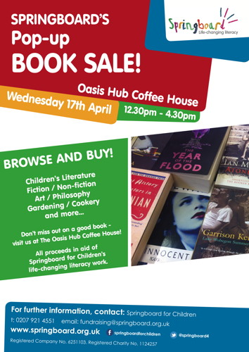 Springboard's Pop-up Book Sale at Oasis Church Waterloo