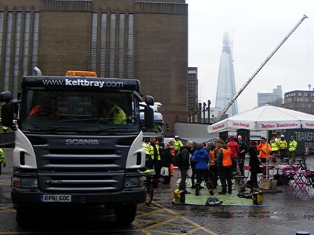 Lorries for Savvy Cyclists at Tate Modern