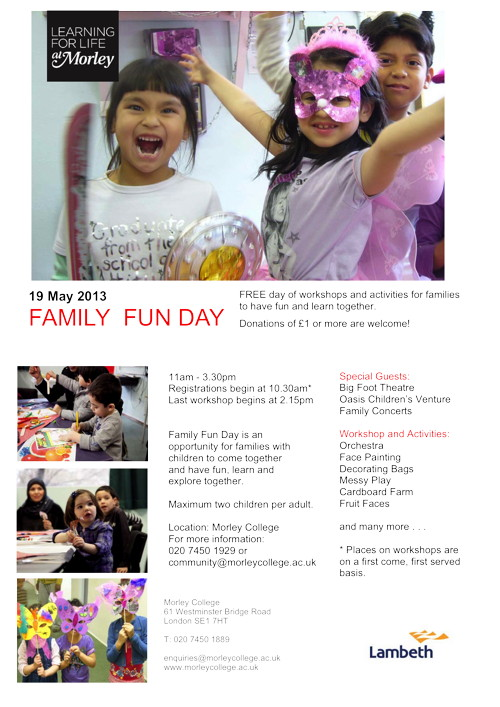 Family Fun Day at Morley College