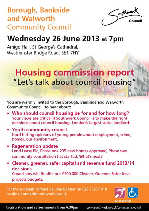 Borough, Bankside & Walworth Community Council at
