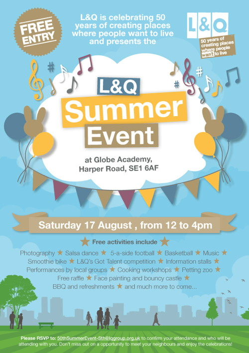 L&Q Summer Event at Globe Academy