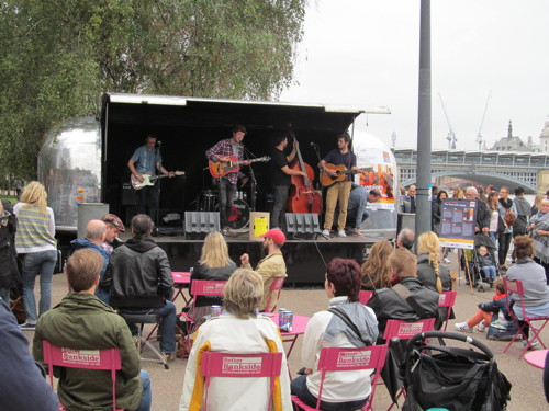 Music by the River at Bankside riverside walkway