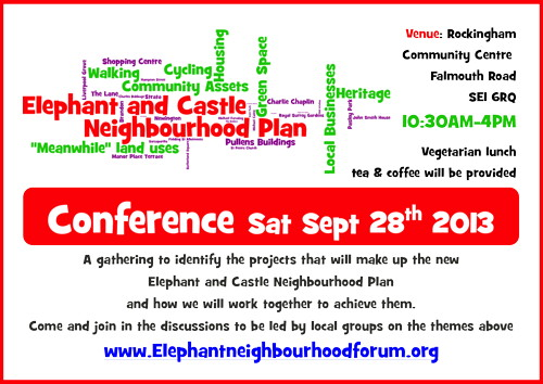 Elephant & Castle Neighbourhood Plan Conference at Rockingham Community Centre