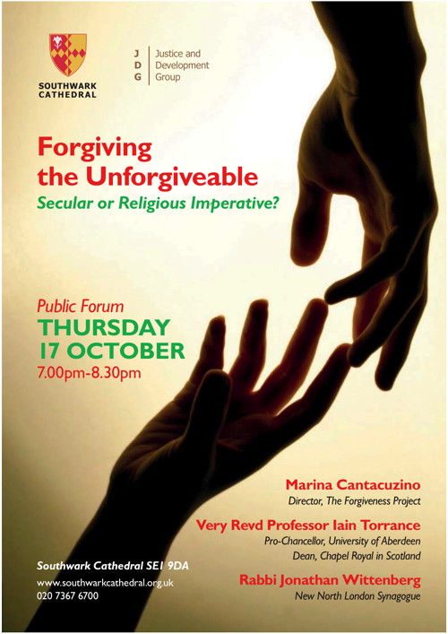 Forgiving the Unforgivable at Southwark Cathedral