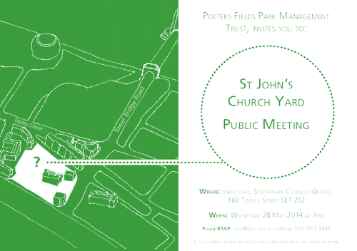 St John's Churchyard Public Meeting at 160 Tooley Street