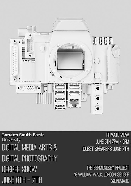 Digital Media Arts and Digital Photography Degree Show at Bermondsey Project