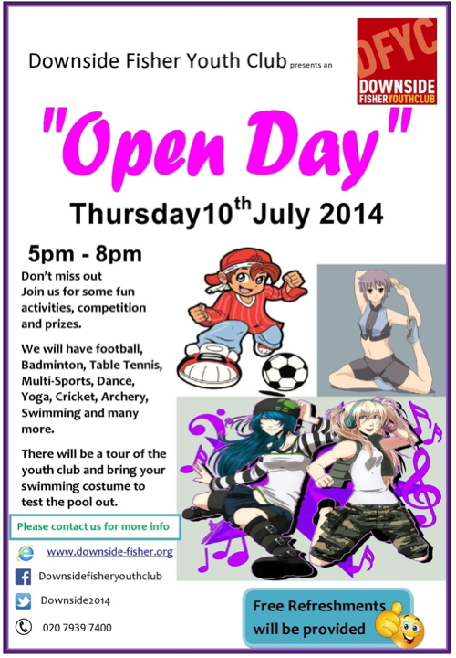 Open Day at Downside Fisher Youth Club